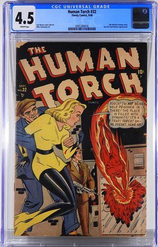 Timely Comics Human Torch #32 CGC 4.5