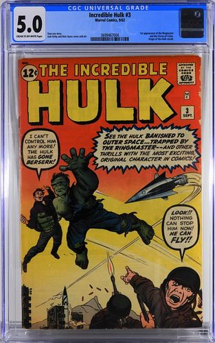 Marvel Comics Incredible Hulk #3 CGC 5.0