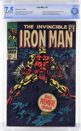 Marvel Comics Iron Man #1 CBCS 7.5
