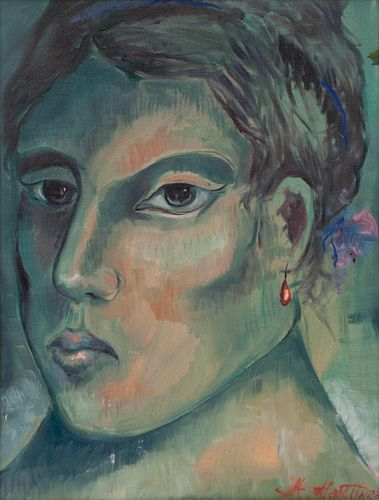 Miguel Martinez  (American, 1951) Portrait of Woman