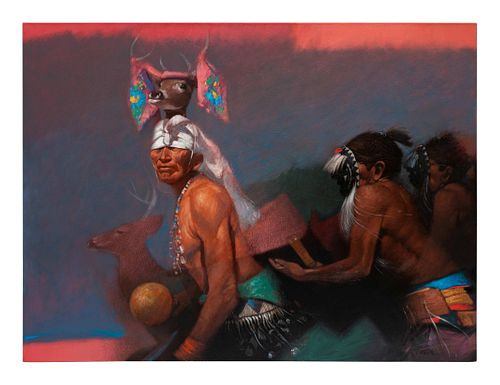 Clifford Beck (Navajo, 1946-1995) Deer Dance