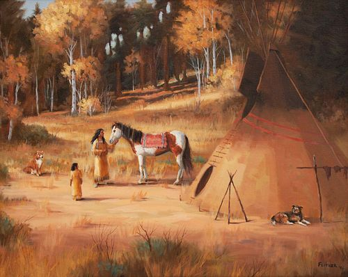 David Flitner (American, b. 1949) Untitled (Native Camp), 1994