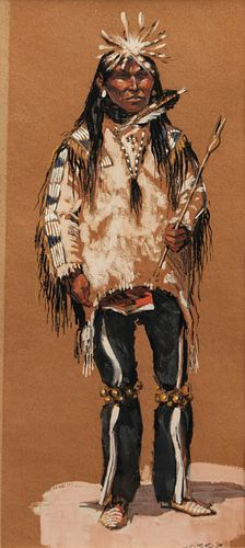 Ned Jacob (American, b. 1938) Sioux Chief, 1962