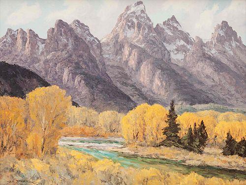 Bill Freeman (American, 1926-2012) Tetons in Fall