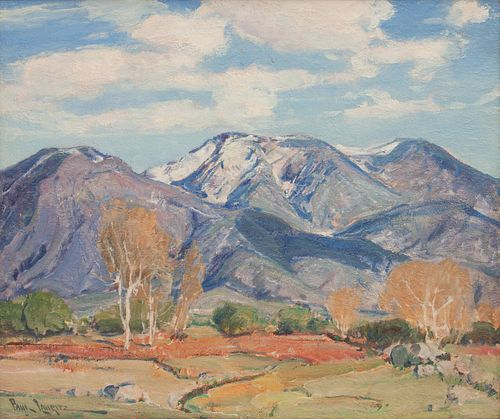 Paul Lauritz (American, 1889-1975) Mountain Landscape