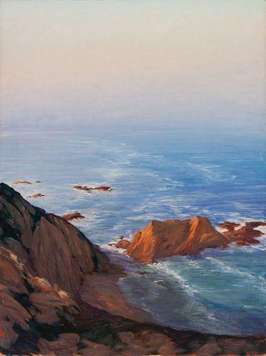 William Berra (American, b. 1952) Bigsur Overlook, 1992
