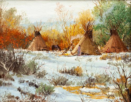Thomas DeDecker (American, b. 1951) Winter Encampment