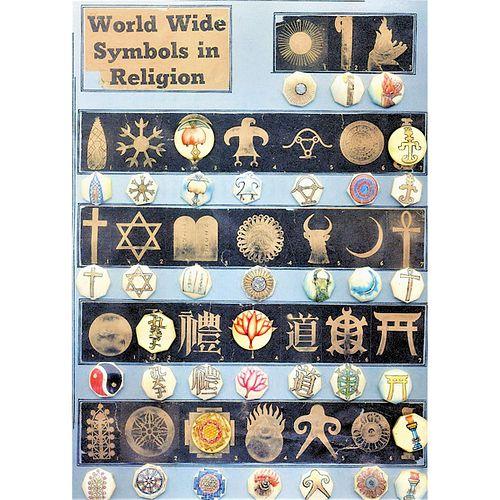 A Rare Set Of Engraved And Stenciled Religious Symbols