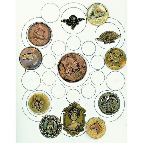 Partial Card Of Metal Picture Buttons
