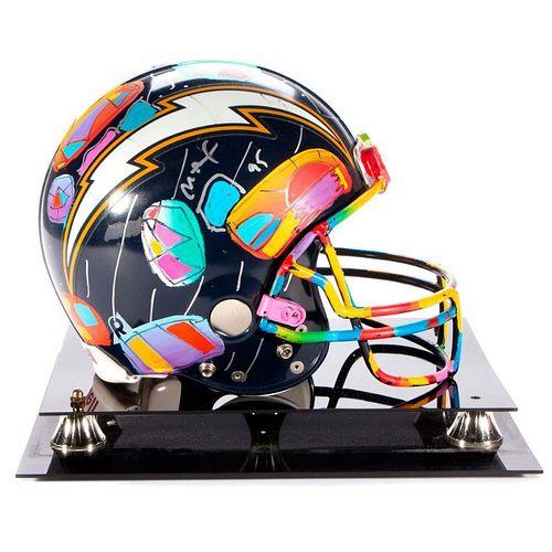 Peter Max Painted Football Helmet