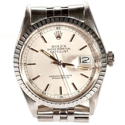 Rolex Oyster Perpetual Datejust Stainless Wristwatch