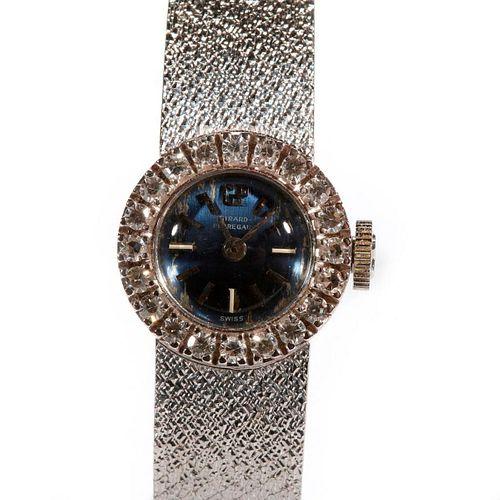 Girard-Perregaux 18k white & diamond wristwatch
