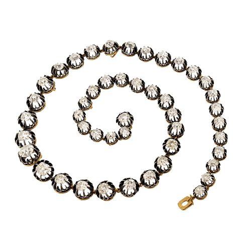 Victorian 40.50 Carat Diamond Necklace