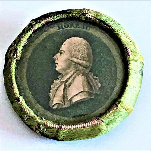 An Extremely Rare 18Th Century Fabric Button