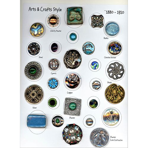 A  Card Of Arts & Crafts Assorted Material Buttons