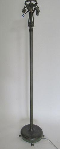 Tiffany Studios Patinated Bronze Standing Lamp