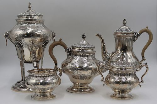 STERLING. 5 Pc. Tuttle Tea Service with Tray.