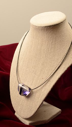 DIANE CHESTER-DEMICCO, Purple Stripe Pendant