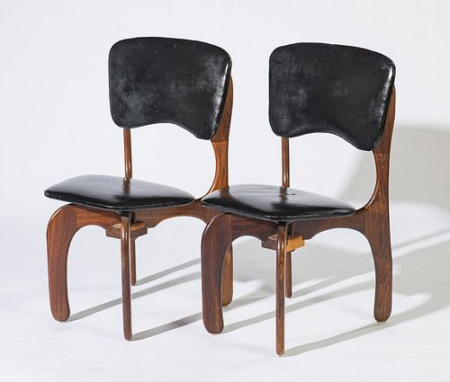 Don Shoemaker (2) Sling Rosewood Chairs