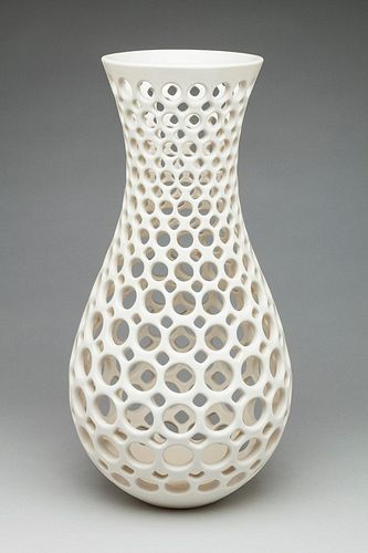 White Pierced Vase/Vessel