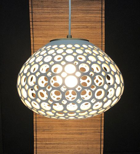 Pierced White Round Pendant Lamp