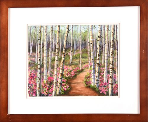 LINDA ALGER, Birch Tree Forest