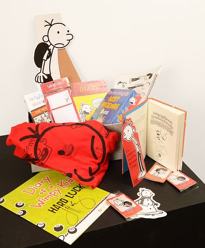 JEFF KINNEY, Diary of a Wimpy Kid Signed Collectibles
