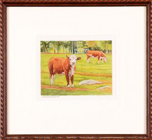 LAURIE LYNN LAWTON, Cows #2