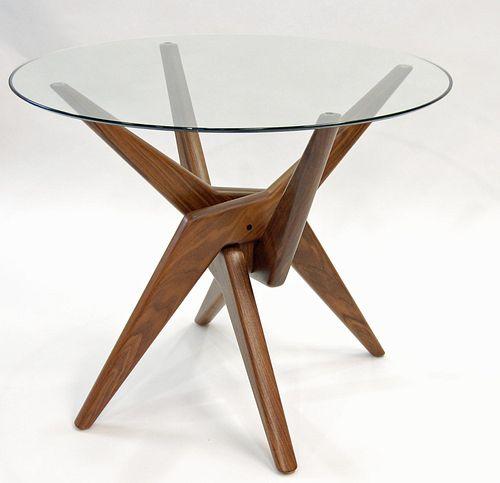 Scissor Dining Table Base in Walnut