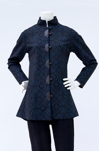 Shaped Blue Paisley Jacket