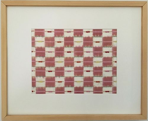 Chie Hitchner Framed Double-Ikat Silk Textile