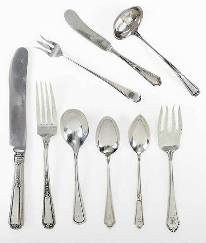 55 Pieces Sterling Flatware