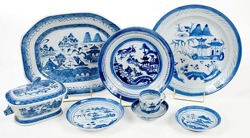 110 Pieces of Assembled Chinese Canton Porcelain