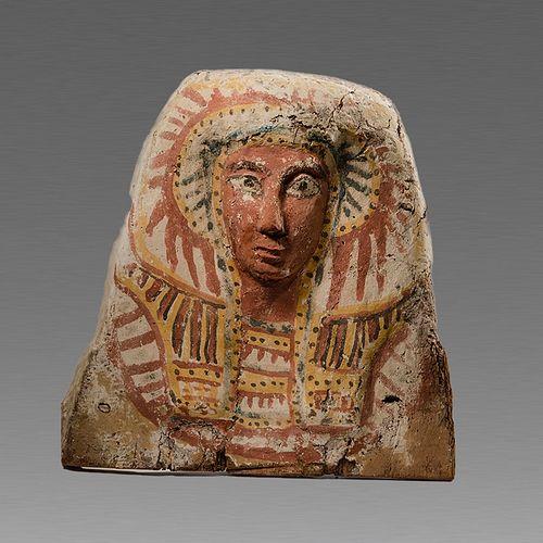 Ancient Egyptian Upper Half Sarcophaqus Lid c.664-332 BC.