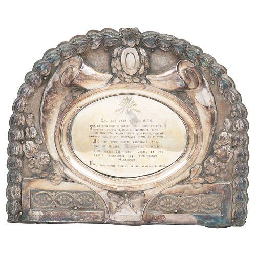 Altar Card, Mexico, 18th century, Silver with wooden support, Assayer seals of Antonio Forcada y la Plaza