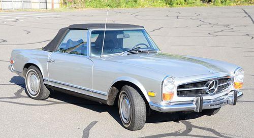 1970 Mercedes Benz, 280 SL, one owner, hardtop and convertible top, original wood carved dashboard, completely restored including original motor, inte