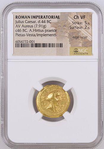 The Caesarians. Julius Caesar. Early 46 BC.Gold Aureus