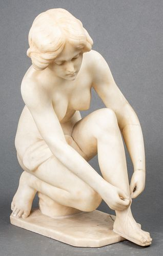 Classical Carved Marble Female Nude Sculpture