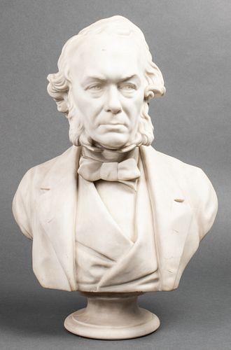 E.W. Wyon Parian Portrait Bust of Richard Cobden