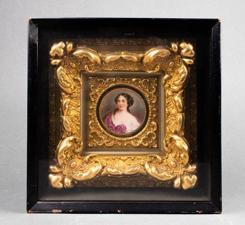 """""""Mme. Deshouliere"""" Continental Porcelain Plaque"""
