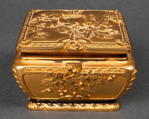 Guenardeau Susse Feres Art Nouveau Dore Bronze Box