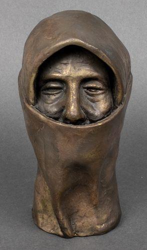 """Modern """"Hooded Figure"""" Composition Sculpture"""