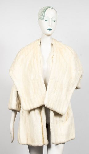 Rabbit Fur Coat & Shawl
