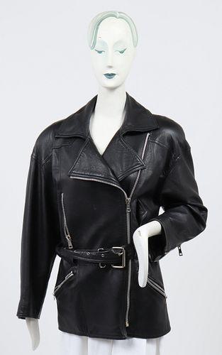 Melanzona for Bergdorf Goodman Leather Jacket