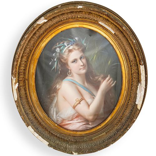 Constant Joseph Brochart (French 1816-1899) Pastel Painting