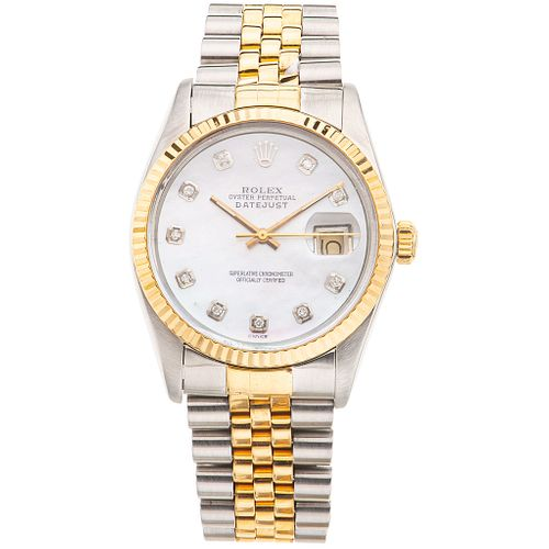 ROLEX OYSTER PERPETUAL DATEJUST. STEEL AND 18K YELLOW GOLD REF. 16013, CA. 1984