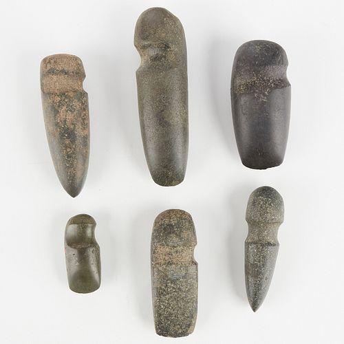Grp: 6 Stone Axes Hohokum Hopi & Mexican