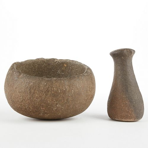 North American Stone Mortar and Pestle