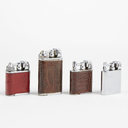Grp: Lancel Swing Arm Lighters Leather Wrapped