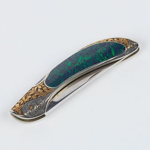 Gil Rudolph Engraved Jim Martin Folding Knife
